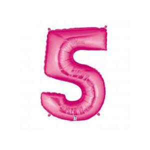 Globo helio numero 5 rosa