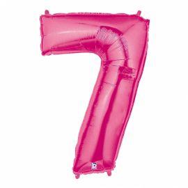 Globo helio numero 7 rosa