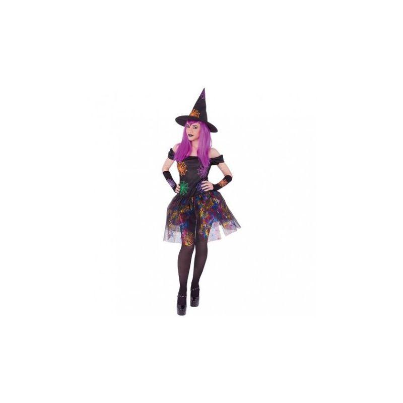 4d1115262 Disfraz bruja telaraña adulto - Barullo.com