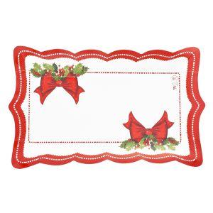 Bandejas lazo rojo navidad 4 und