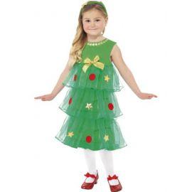 disfraz árbol de navidad niña
