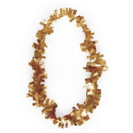 Collar plastico dorado