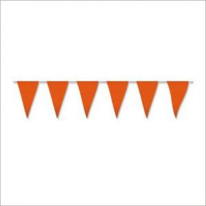 Banderin plastico 10 metros naranja