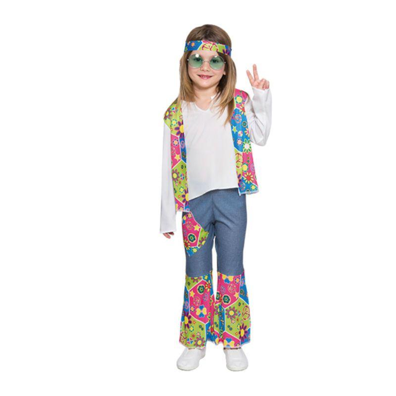 ff8ca1740 Disfraz hippie niña infantil