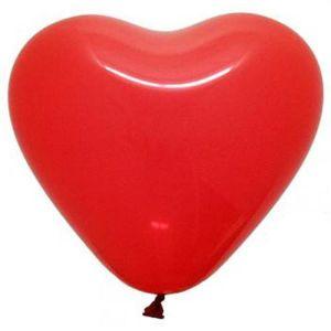 Globos forma corazon rojo 8 und
