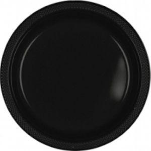 Platos negros 27 cm 8 und