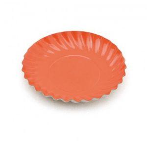 Platos carton naranja 8 und