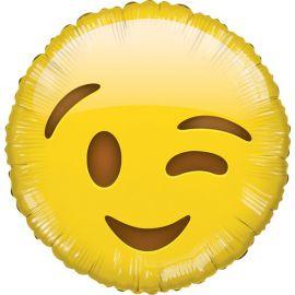 Globo helio emoticono guiño