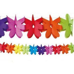 Guirnalda flores multicolor 3,5 m
