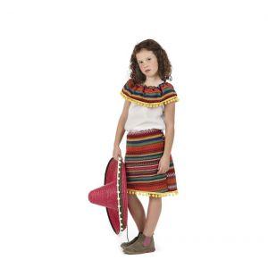 Disfraz mexicana infantil