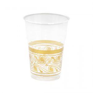 Vasos trasparentes detalle oro