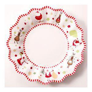 Platos navidades divertidas pequeños pack 8