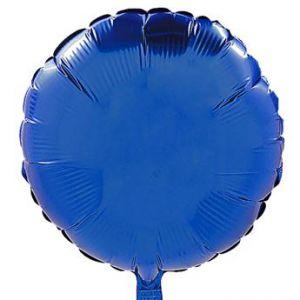 Globo helio circulo azul