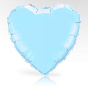Globo helio corazon azul claro