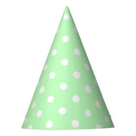 Pack 6 sombreros verde menta lunares