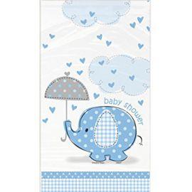 Mantel elefante azul baby