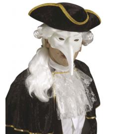 Mascara veneciana con pico blanca