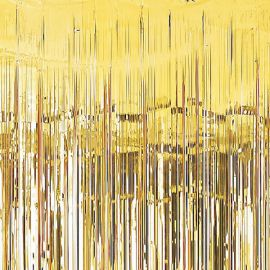Cortina metalina oro