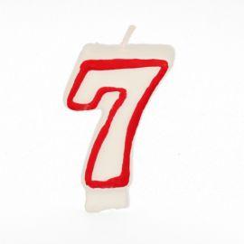 Vela blanca número 7
