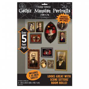 Decoración paredes cuadros góticos