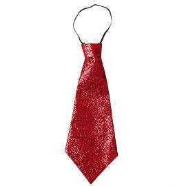 Corbata roja lurex