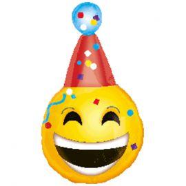 Globo helio emoticono gorro fiesta