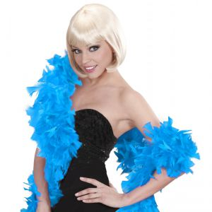 Boa plumas azul turquesa