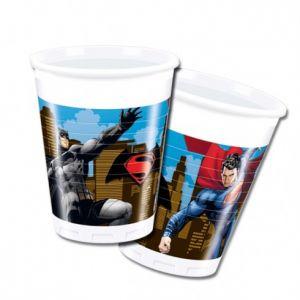 Vasos Batman Superman pack 8 un