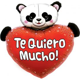 Globo helio corazón panda