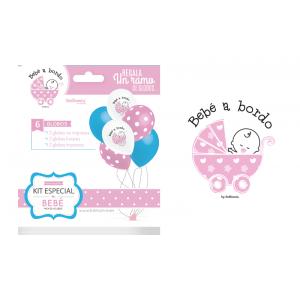Ramo globos bebé rosa