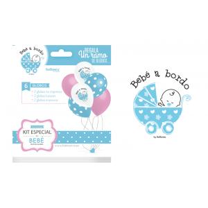 Ramo globos bebé azul
