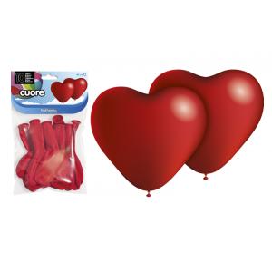 Globos corazones rojos pack 10