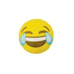 Globo helio emoticono llorando de risa