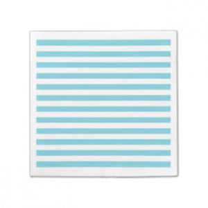 Servilletas líneas azul turquesa 20 und