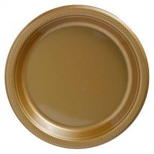 Platos dorados 27cm pack 10 und