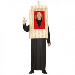 Disfraz confesionario hombre