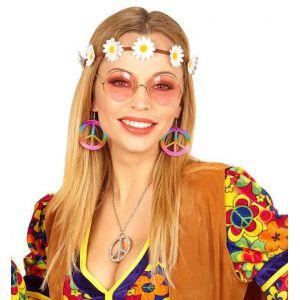 Set hippie pendientes y cinta de flores