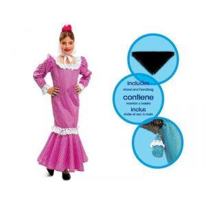 Disfraz madrileña chulapa rosa inf