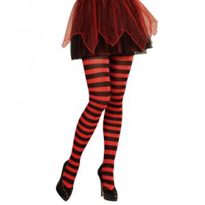Medias rayas rojas y negras