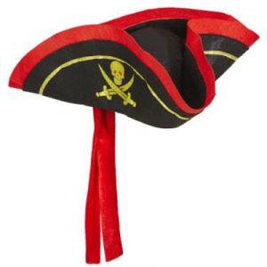 Sombrero tricornio pirata adulto