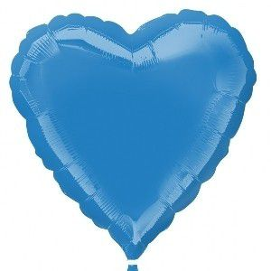 Globo helio corazon azul peri