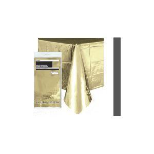 Mantel dorado brillante 54x108