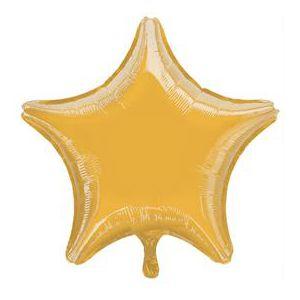 Globo helio estrella champagne
