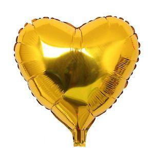 Globo helio corazon jumbo oro