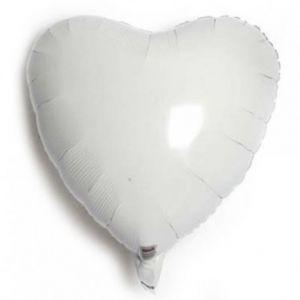 Globo helio corazón blanco