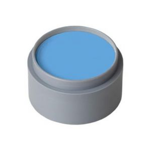 Maquillaje profesional al agua azul cielo