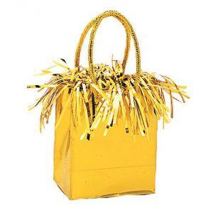 Peso bolsa dorado