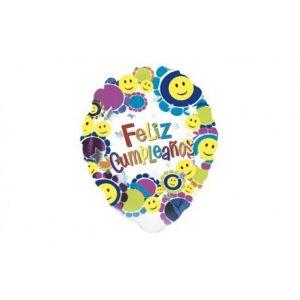 Globo helio feliz cumpleaños smiles