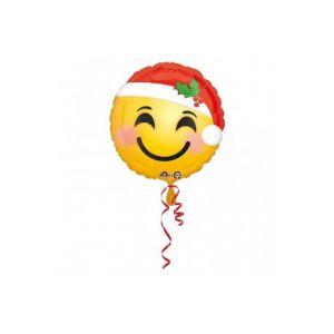 Globo helio emoticono navidad