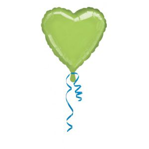 Globo helio corazon jumbo kiwi